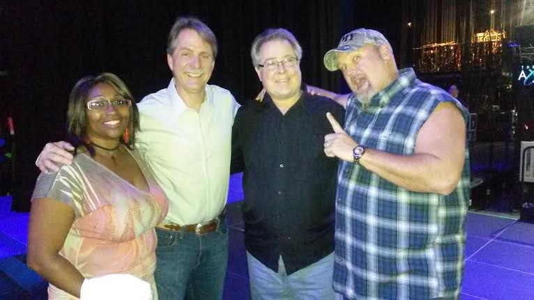Jeff Foxworthy and Larry the Cable Guy visit Charlie Bass and Andrea Dixon